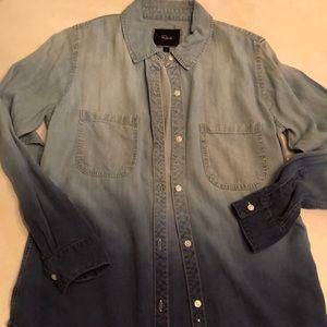 Rails Ombré Denim Shirt Size Small